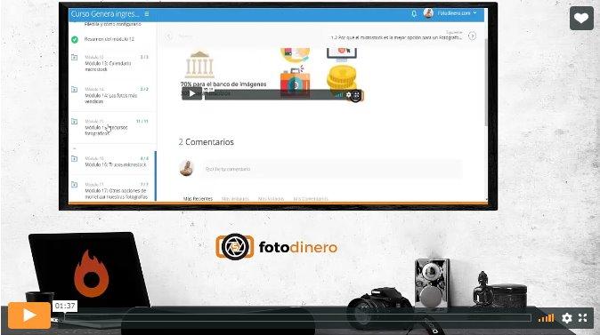 Curso Genera ingresos con tus fotografías online video